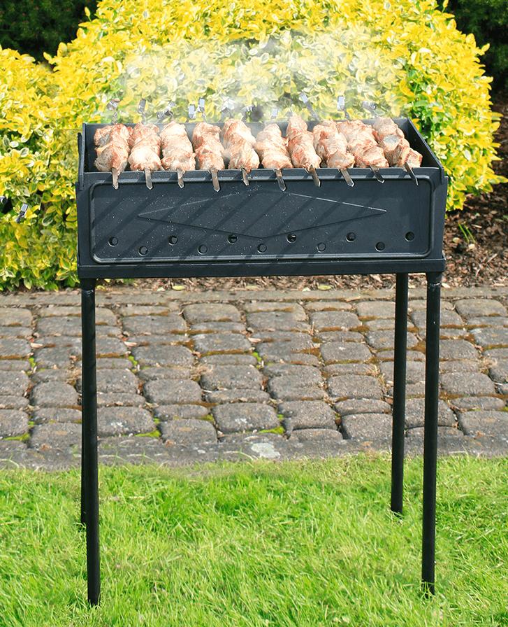 Mangal Schaschlikgrill aus Gusseisen SYTON zerlegbar mit Tragetasche