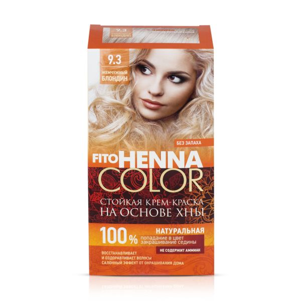 Haarfarbe fito HENNA COLOR, 9.3 Perlblond