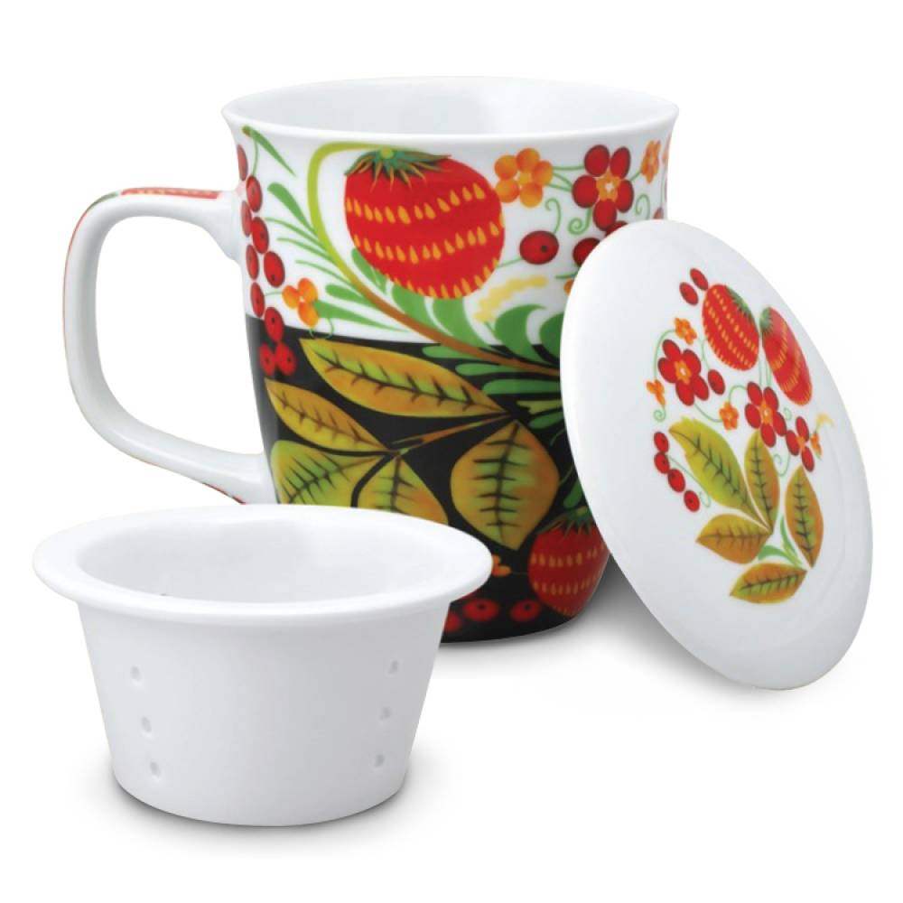 Tasse - Design Chochloma, Keramik, 400 ml